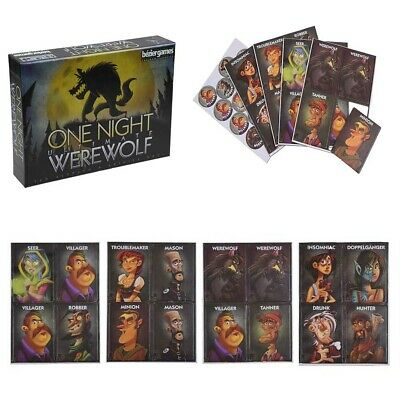 ONE NIGHT ULTIMATE Werewolf, Daybreak, Vampire plus Bonus Packs and