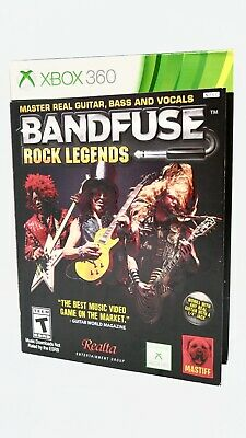 bandfuse rock legends for xbox 360 complete with cable and adapter BandFuse Audio Adapter