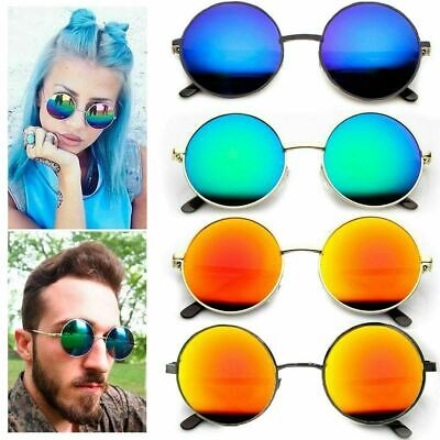 Womens Fashion Sunglasses Eyewear Round Mirrored UV400 Desinger Shades Glasses