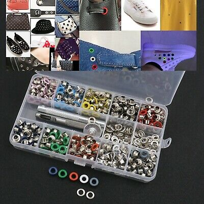 500pcs Multi-color 5mm Hole Grommet Metal Eyelets Kit with Setting Tool