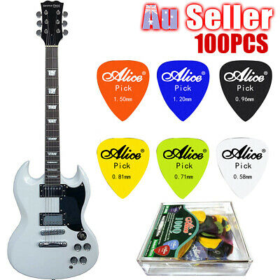 100PCS with Case 6 Thickness Guitar Picks Various Acoustic Electric Plectrum