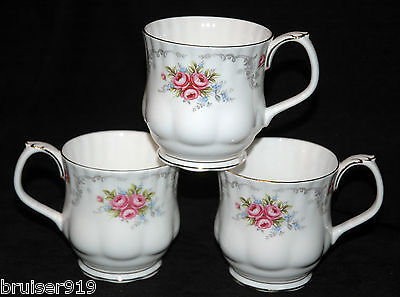 TRANQUILLITY Royal Albert 3x COFFEE MUG Set Tea Cocoa Hot Chocolate Tranquility