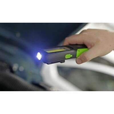 Sealey LED318G Rechargeable Inspection Lamp Green 5W COB + 3W LED + Power Bank