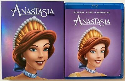 Anastasia Blu Ray Dvd 2 Dsc Set + Family Icons Slipcover Sleeve Free Shipping