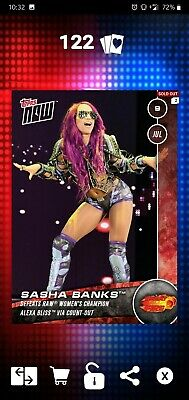 Topps WWE SLAM Digital 2017 Topps Now Great Balls of Fire Sasha Banks 797CC