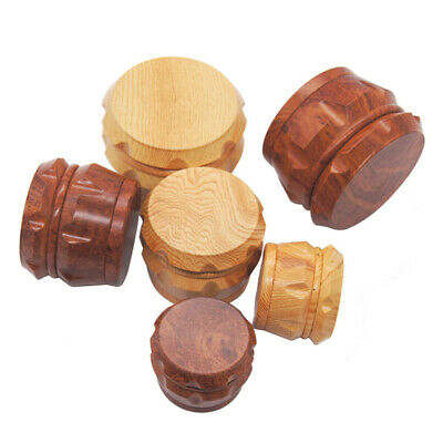 4 Layers Herb Tobacco Grinder Zinc Alloy Wood Weeds Crusher With Cutting Blades