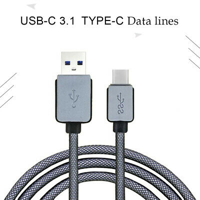 2PCS 3A Braided Type-C USB-C 3.1 Data Fast Charger Cable 3M For Samsung S10 S9+