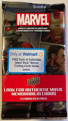 New Upper Deck Marvel Trading Cards 5 Cards Per Pack Walmart Exclusive Commemora