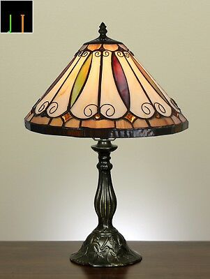 Winter Clearance Tiffany Felice Stained Glass Art Table Bedside Lamp Leadlight