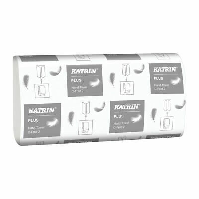 Katrin C-Fold Plus Hand Towels 2-Ply White (Pack of 2400) 344388