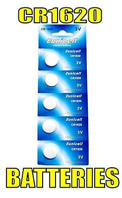 5 x CR1620 BR1620 DL1620 ECR1620 KCR1620 LM1620 3V Button Coin Cell Batteries