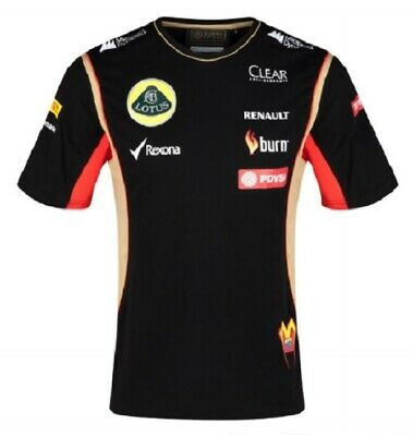 T-SHIRT Adult Formula One 1 Lotus F1 Team NEW! PDVSA Maldonado 2014/5
