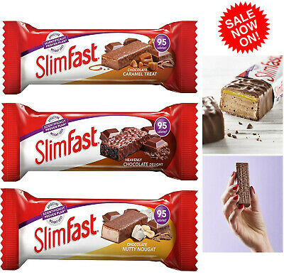 SlimFast Fast Snack Bar 26g (Box of 24/30) Various Flavours *BRAND NEW*