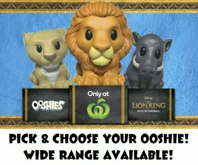 WOOLWORTHS Ooshies Disney The Lion King Full Set - ALL Pick & Choose your Ooshie