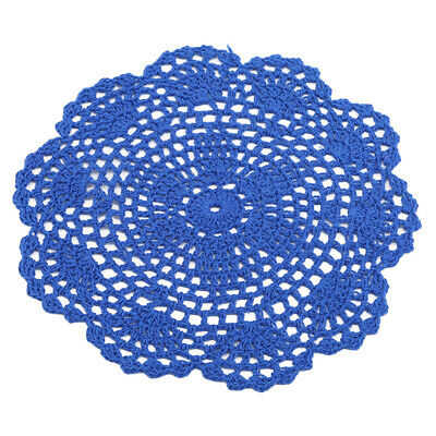 Handmade Lace Crocheted Placemat Table Mat Cotton Doily Table Round L