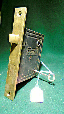 1862 R & E RUSSELL & ERWIN #013 MORTISE LOCK w/KEY - RECONDITIONED (9779-3)