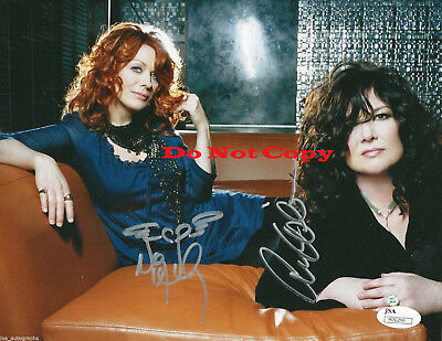 Heart band  Ann & Nancy Wilson autographed 8x10 photo RP