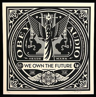 SHEPARD FAIREY ♦ 50 shades RECORDS sérigraphie SIGNEE ♦ OBEY GIANT MINT