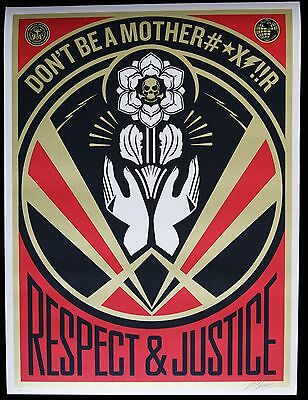 SHEPARD FAIREY ♦ DON'T BE A MFR ♦ serigraphie SIGNEE ♦ OBEY GIANT MINT