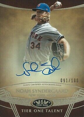 2019 Topps Tier One Noah Syndergaard 91/100 Autograph New York Mets MLB