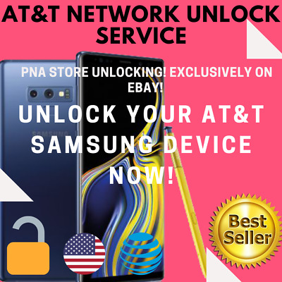 UNLOCK CODE FOR AT&T ATT SAMSUNG Galaxy Note 9 8 7 6 5 4 3 Active J7 A6 S7 S8 S9