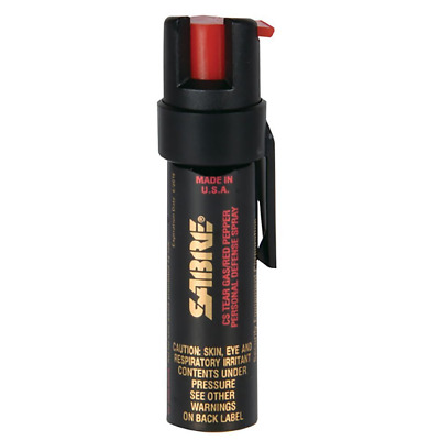 SABRE Advanced 3-In-1 Police Strength Pepper Spray - Compact Canister with Clip