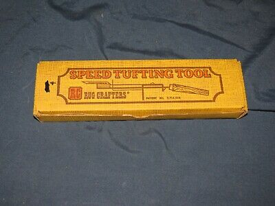 g5 RC Rug Crafters Speed-Tufting Tool and Original Box Vintage