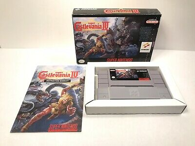 Super Castlevania IV 4 -Super Nintendo SNES CIB With Manual Authentic And Tested