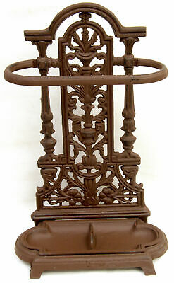 Vintage Cast Iron Ornate Rustic Brolly / Umbrella / Walking Stick Stand For