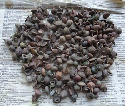 Medieval buttons Metal detector finds.Collection of medieval buttons  200pieces.