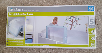 Lindam Easy Fit Folding Bed Guard - Blue (051514) new