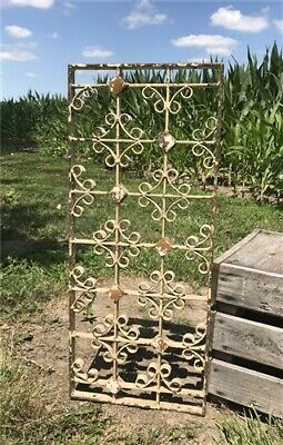 Antique French Cast Iron Grate, Architectural Salvage Metal Panel, Iron Grill