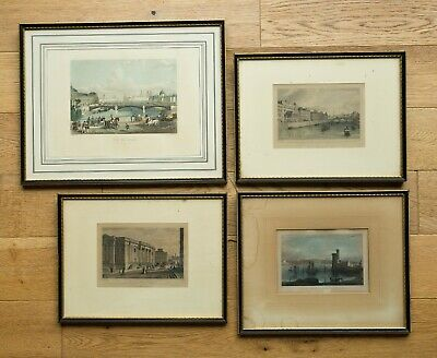 Job Lot 4 x Framed Antique Engraving Prints C.L. Smith and others