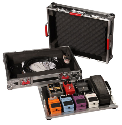 "Gator Cases G-TOUR Series Guitar Pedal board with ATA Road Case; Small: 17"" x"