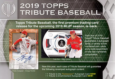 2019 Topps Tribute Baseball Live Pick Your Player (Pyp) 1 Box Break