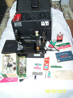 Vintage 1957 Singer Featherweight Portable Electric Sewing Machine 221-