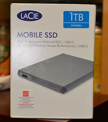 SEALED Lacie Mobile SSD Solid State Drive 1TB STHM1000400 - FREE USPS - NEW