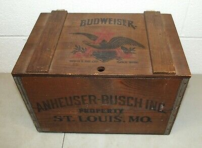 "RARE!! Vtg 1876-1976 BUDWEISER ""Centennial"" WOODEN BEER CASE (St Louis Graphics)"