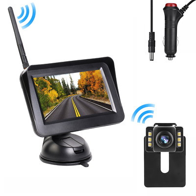 Built in Wireless Reverse Parking Kit Car Backup Camera 4.3'' Rear View Monitor