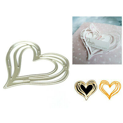 Love Heart Metal Cutting Dies Stencil for DIY Scrapbooking Paper Card Decor-v TO