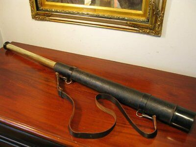 Antique Vintage Edwardian English JH Steward Stalking Hunting Telescope Spyglass