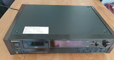 Sony DTC 60ES Black DAT Recorder WOODEN side panels Working sn 503878