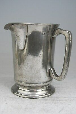 Fine Antique Pewter Quart Tankard Mug Measure, By Davidson, Wellington Highgate