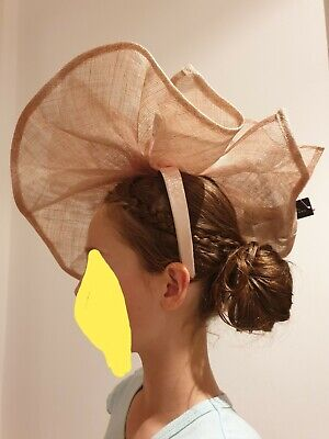 Jasper Conran fascinator BNWT nude statement wedding races headpiece hat RRP £50