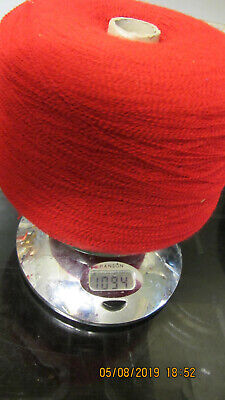 CONE 1/15 LACEWEIGHT YARN IN SCARLET RED 1094 grams