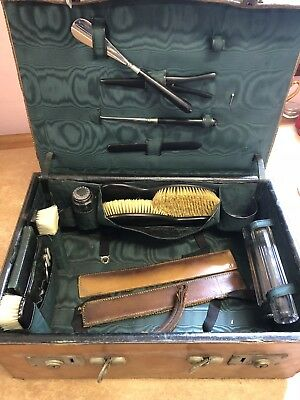 Antique Victorian Travelling Vanity Leather Case by Wolfsky & Co Ltd,1897