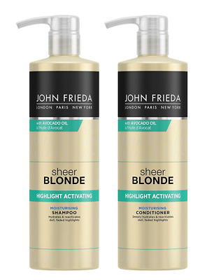 John Frieda Sheer Blonde Highlight Activating Shampoo & Conditioner 500ml NEW