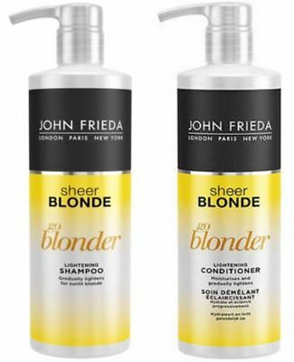John Frieda Sheer Blonde Go Blonder Shampoo & Conditioner 500ml NEW