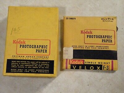 Vintage Kodak Velox F3  2.5x2.5  SEALED + F2 PARTIAL  2.5x3.5 PHOTOGRAPHIC 1959