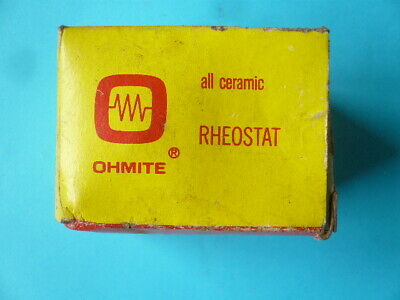 Ohmite Usa Rheostat Model H - 25 Watt 50 Ohms - Unused Old Stock